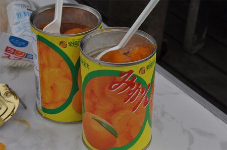 凍ミカン缶